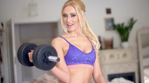 Thumbnail for Vivacious Pretty Blond Working Out 2