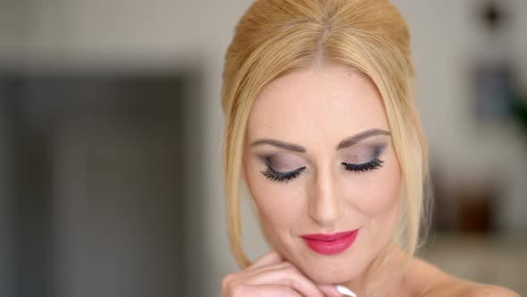 Thumbnail for Pretty Face With Makeup Of A Blond Woman 3
