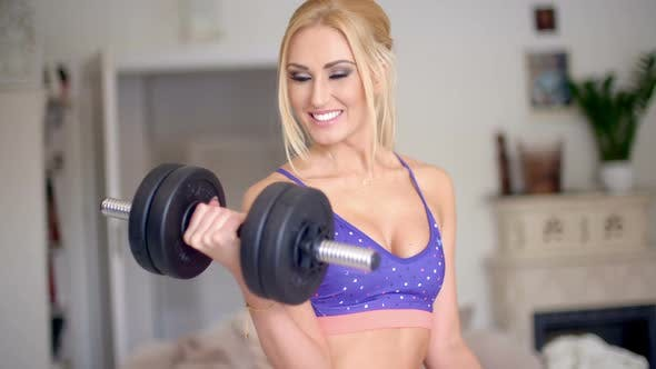 Thumbnail for Vivacious Pretty Blond Working Out 1