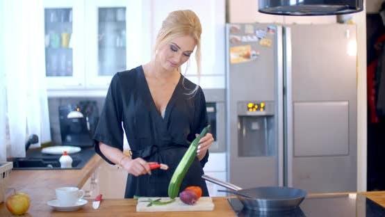 Thumbnail for Young Woman Preparing A Healthy Salad
