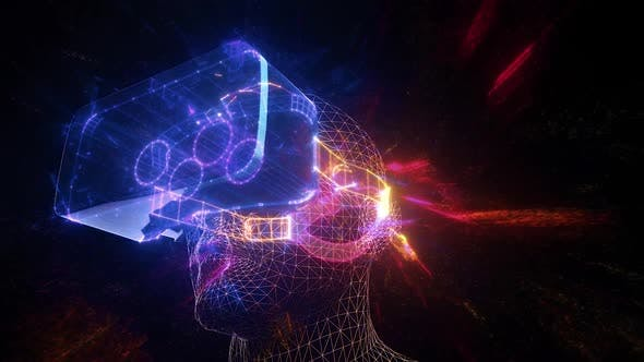Abstract Virtual Reality Headset Hd