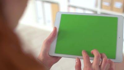 Chromakey Screen on Touchpad