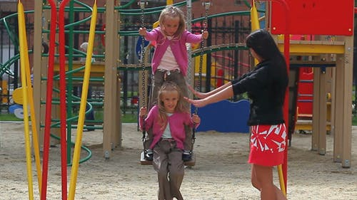 Sisters On Swing