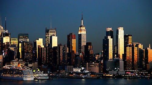 new york city blue nigth  full HD