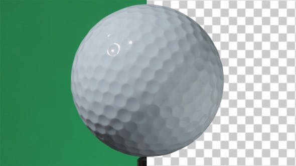 Thumbnail for Real Golf Ball Spinning  Pre-keyed