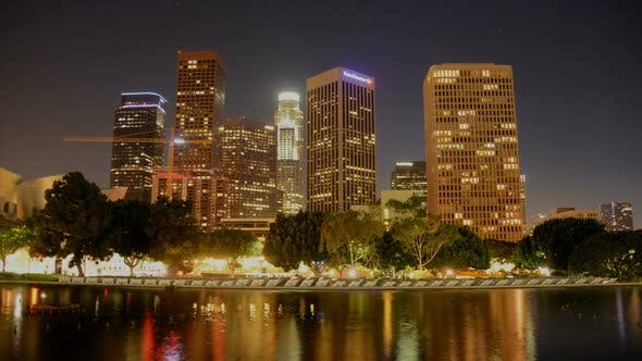 Thumbnail for Scenic Downtown Los Angeles At Night