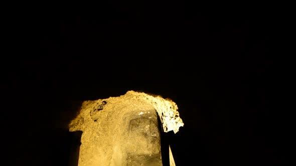 Abandon Gold Silver Mine At Night