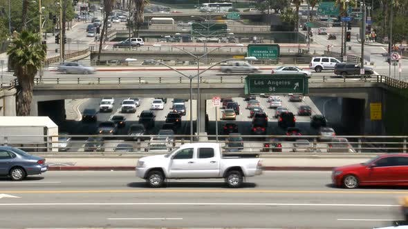 Thumbnail for Busy Downtown Freeway - Los Angeles
