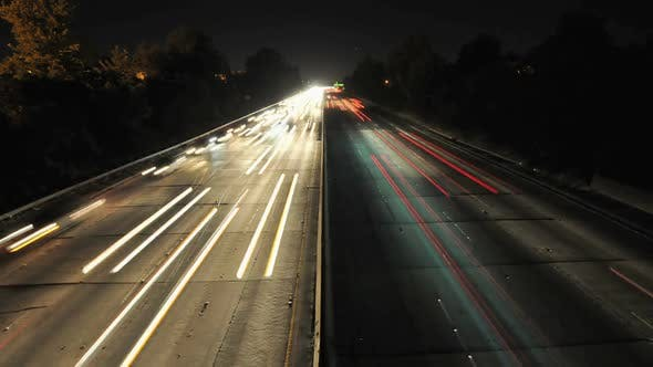 Thumbnail for Busy Freeway At Night - Clip 3