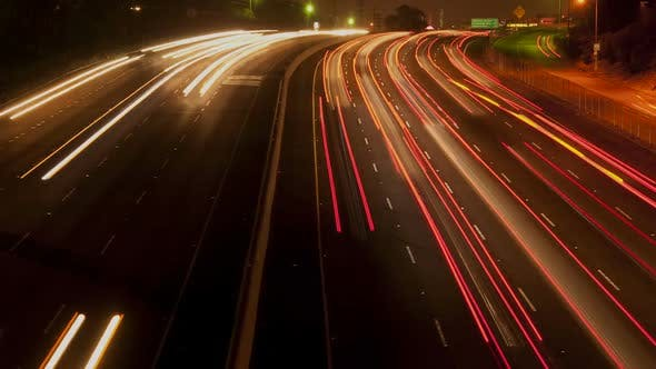Thumbnail for Busy Los Angeles Freeway At Night