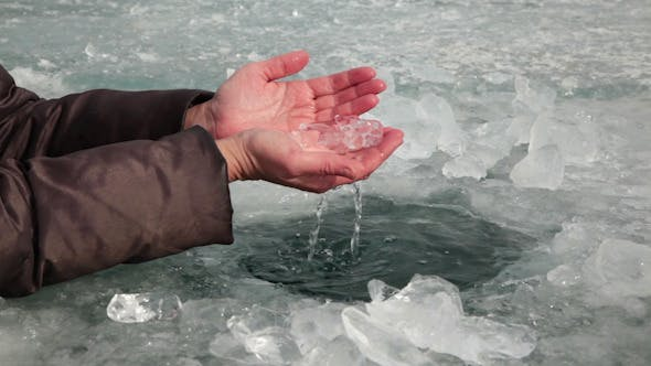 Thumbnail for Human Feels the Water in the Ice Hole