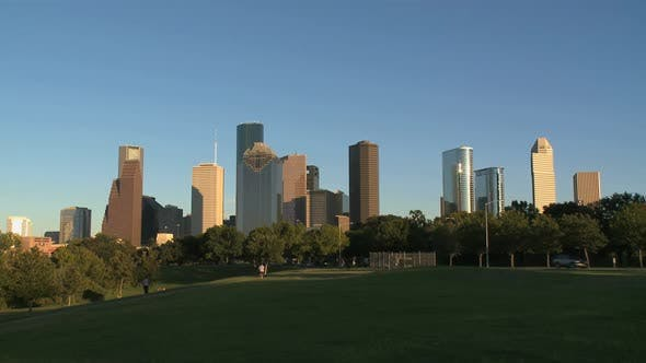 Thumbnail for Houston Skyline In Late Afternoon - Wide Shot