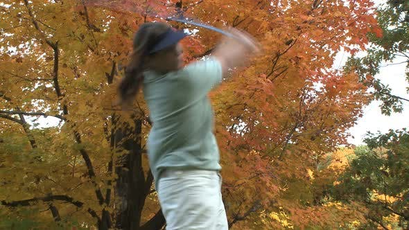Thumbnail for Female Golfer On An Autumn Day (1 Of 3)