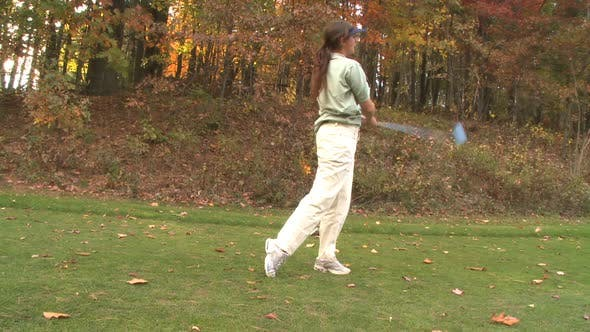 Thumbnail for Female Golfer With A Powerful Swing (2 Of 2)