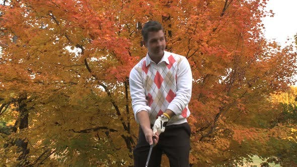 Cover Image for Male Golfer On An Autumn Day (3 Of 3)
