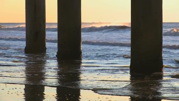 Thumbnail for Waves Splash Against Moorings