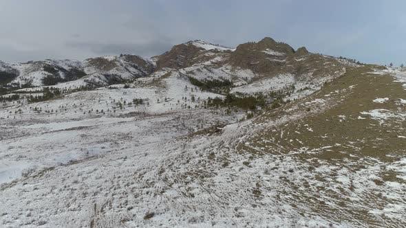 Thumbnail for Aerial Winter Landscape in Khakassia 2