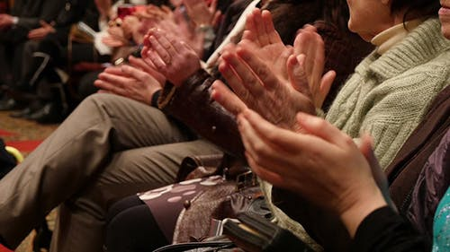 People Hands In Hall Applause