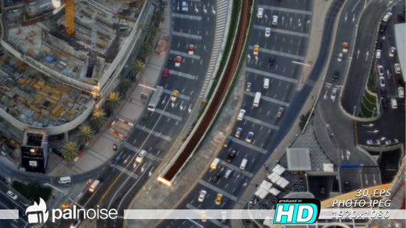Thumbnail for Traffic Cars From Above 01