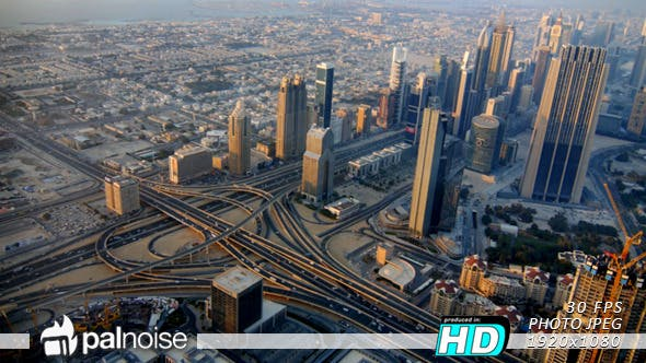Thumbnail for Dubai Day Roundabout Skyscrapers