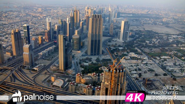 Thumbnail for Dubai Skyscraper Day Panoramic Aerial