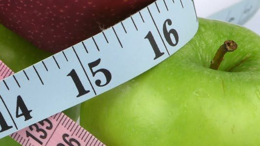Thumbnail for Apple and Measurement Diet Fit Life Concept 7