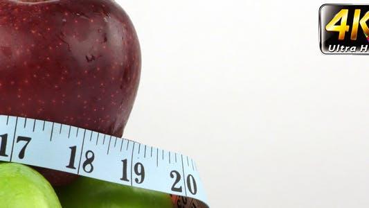 Apple and Measurement Diet Fit Life Concept 9