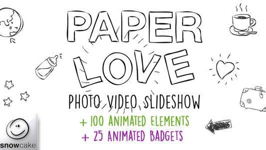 Thumbnail for Paper Love Photo Video Slideshow