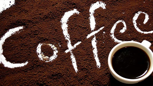 Thumbnail for Coffee Text and Cup of Coffee