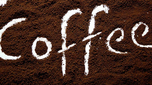 Thumbnail for Coffee Text in Coffee Granules 2