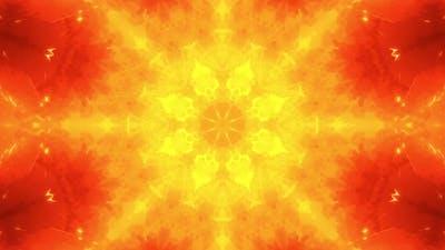 Abstract Flame Kaleidoscope Background
