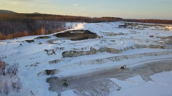 Sand Career Quarry At Winter