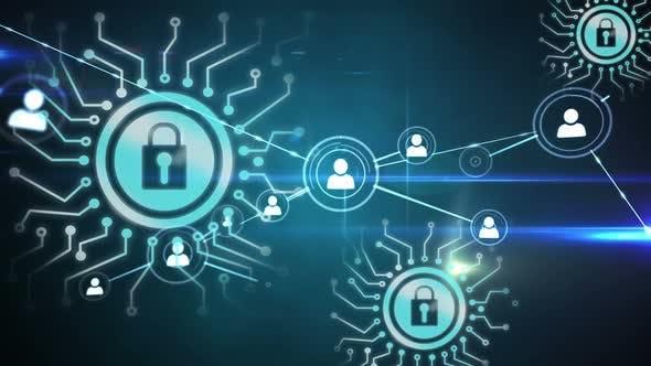 Video animierte Internet-Sicherheitssymbole
