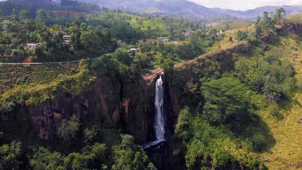 Thumbnail for Waterfalls in Sri lanka, Nuwara Eliya waterfall