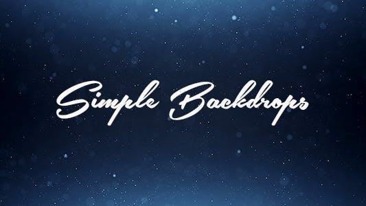 Thumbnail for Simple Backdrops