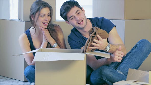 Thumbnail for Loving Couple Enjoys A New Apartment