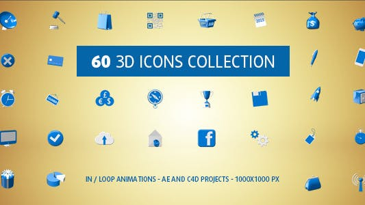 Thumbnail for 3D Icons Collection