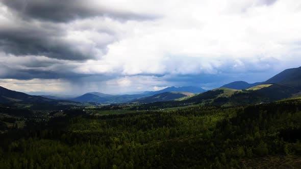 Thumbnail for Mountain Fog Time Lapse. Carpathians. Ukraine. Aerial
