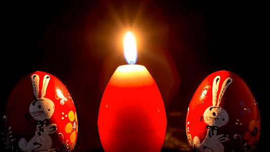 Thumbnail for Egg Shape Candles And Two Wooden Eggs