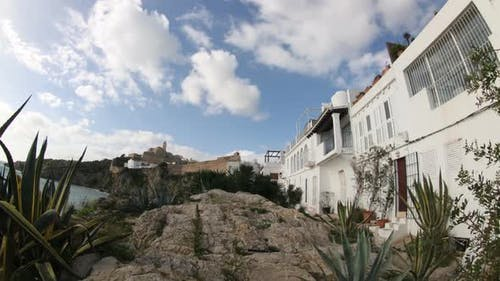 View In Ibiza Town, With Cathedral In Background