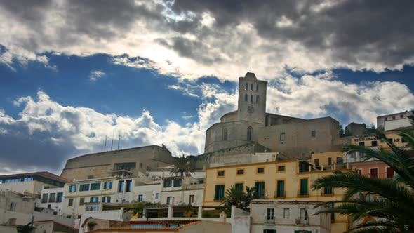 View Of Cathedral In Ibiza Old Town 1