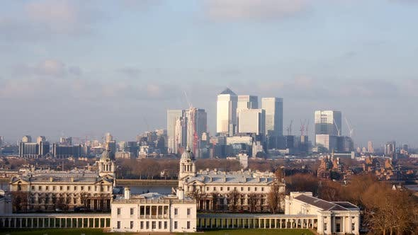 View Of London Docklands From Greenwich Park 1
