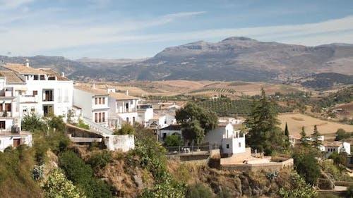 Blick auf die Schöne Stadt Ronda In Andalusien, Spanien. 11