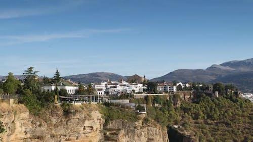 Blick auf die Schöne Stadt Ronda In Andalusien, Spanien. 12