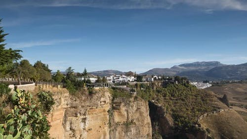 Blick auf die Schöne Stadt Ronda In Andalusien, Spanien. 2