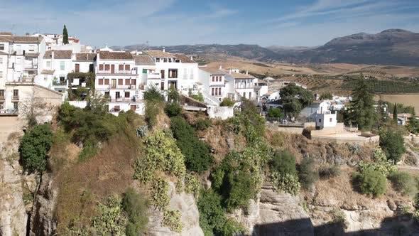 Blick auf die Schöne Stadt Ronda In Andalusien, Spanien. 3