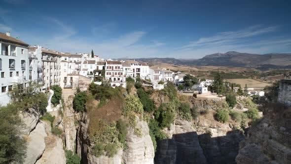 Blick auf die Schöne Stadt Ronda In Andalusien, Spanien. 4