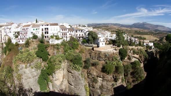 Blick auf die Schöne Stadt Ronda In Andalusien, Spanien. 5