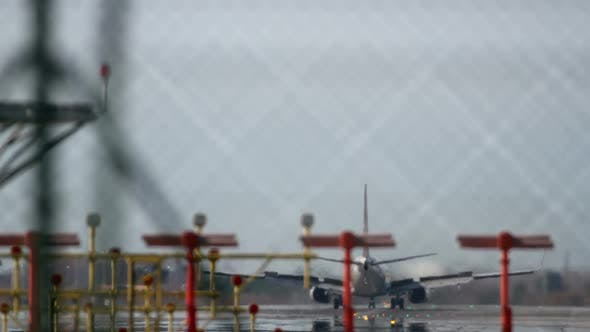 Thumbnail for Plane Landing Zoom Telephoto Barcelona Airport 6