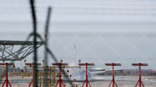Thumbnail for Plane Landing Zoom Telephoto Barcelona Airport 7